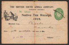 Native Tax Receipt